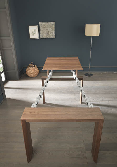 Goliath telescoping console-to-dining table