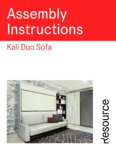 Kali Duo Sofa Assembly Instructions