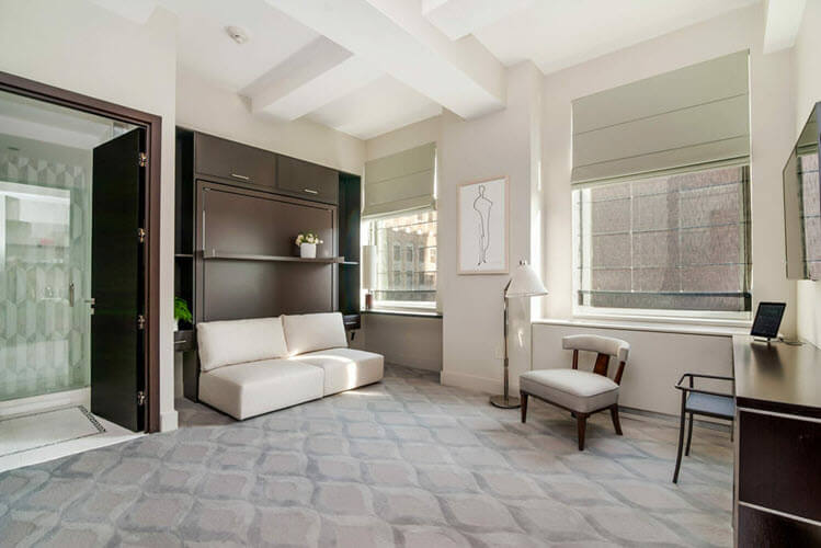 Marmara Hotel (New York City) with CLEI wall beds. | Resource Furniture