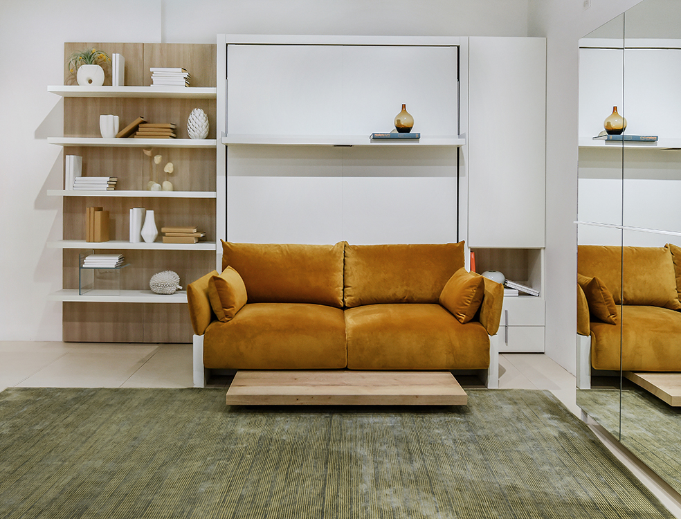 Nuovoliola 10 Queen Transforming Wall Bed With Sofa