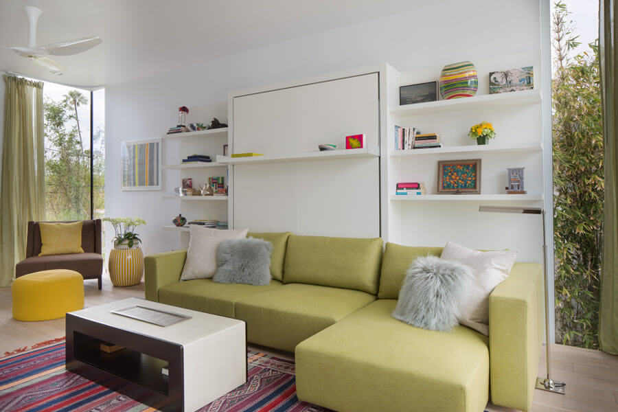 Multifunctional West Hollywood Home features transforming furniture from Resource Furniture