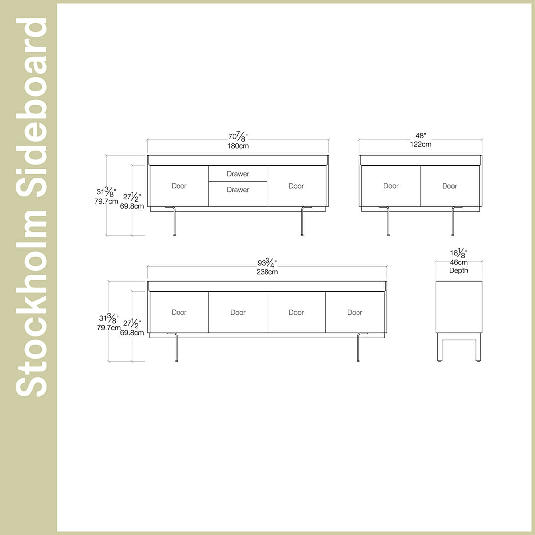 Stockholm Sideboard Sideboards and Consoles Resource Furniture