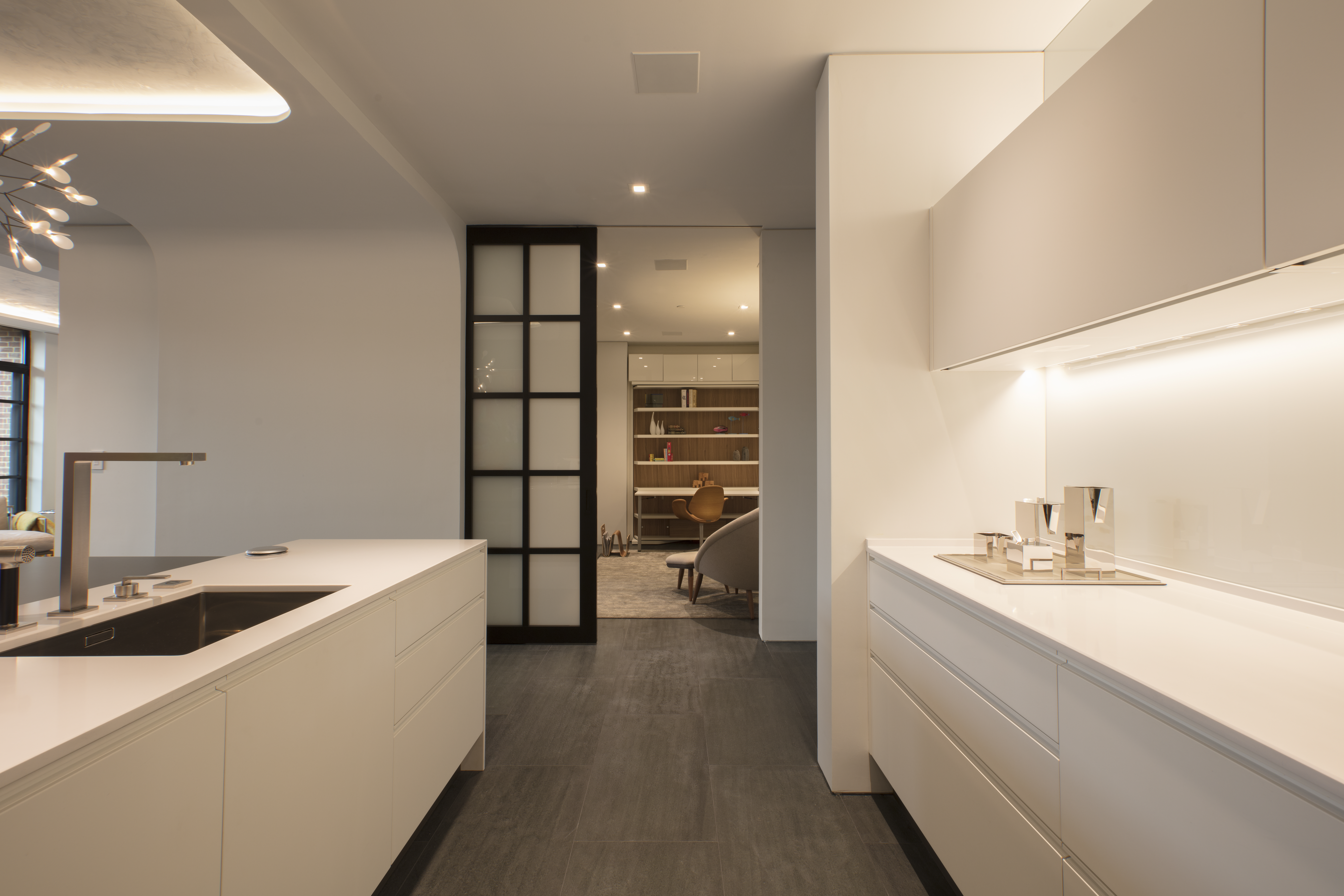 Architect Andrea Charalambous opened the condo's floor plan to create a light and airy kitchen.
