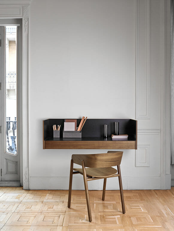 Stockholm Desk can be wall mounted