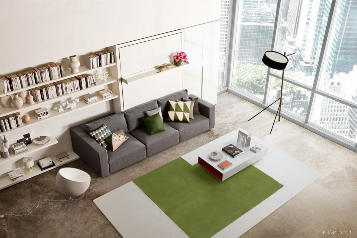 sofa with murphy bed folded up