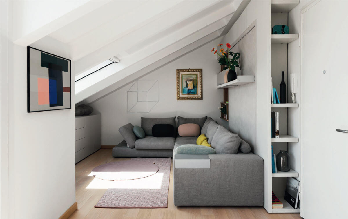 Tango Sectional Sofa with Wall Bed