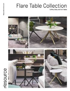 Flare Table Collection Tearsheet