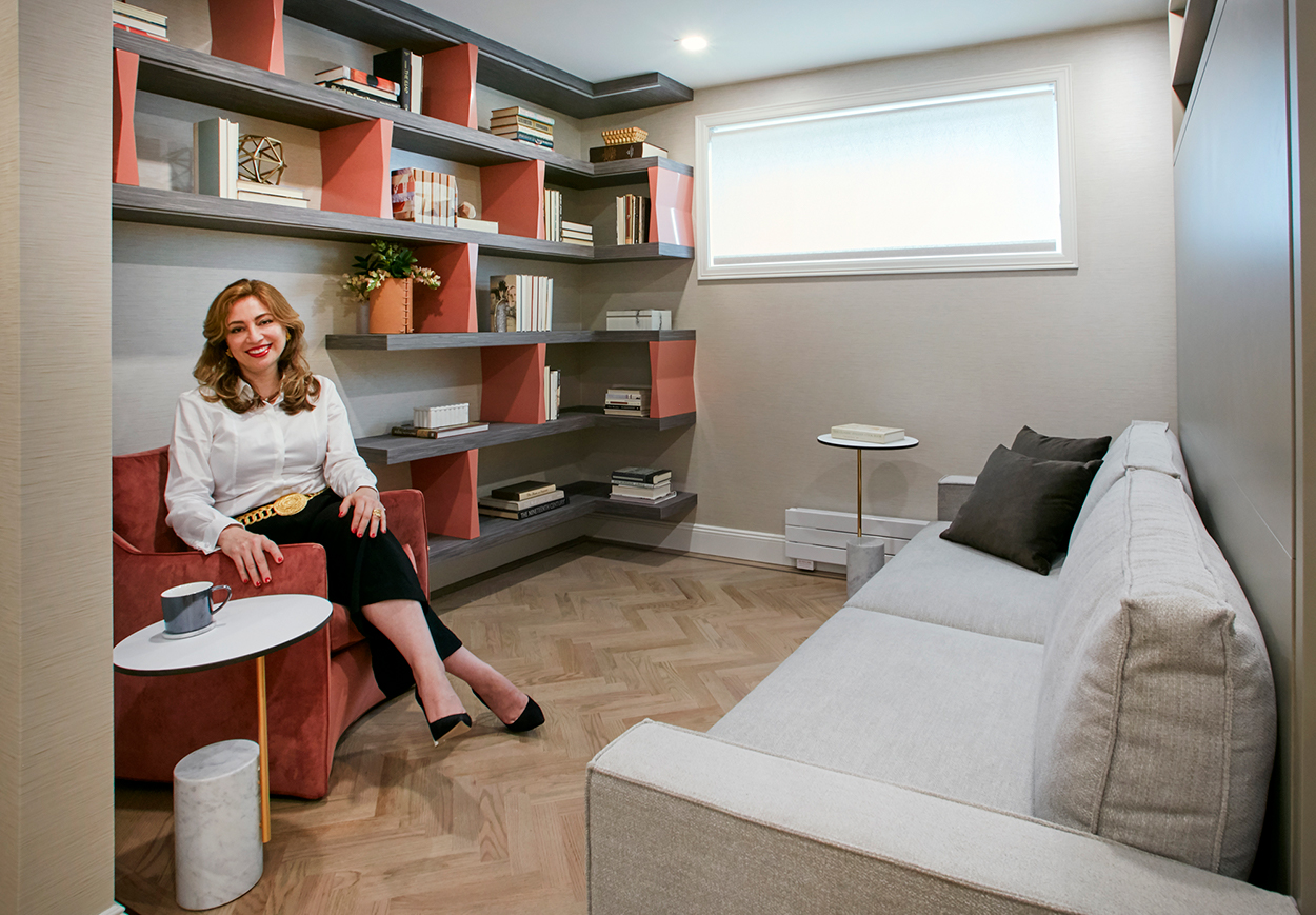 Sara Jazayeri, founder and principal of the architecture and interior design firm Studio 360, utilized multi-functional furniture from Resource to create a hyper-flexible home for her clients to comfortably age in place.