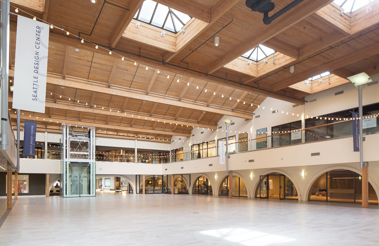 Interior of the Seattle Design Center. Resource opens its fifth U.S. showroom there later this summer.