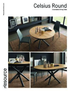 Celsuis Round Dining Table Tearsheet